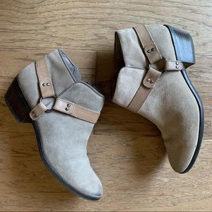 Sam Edelman Gray Taupe Suede Booties Phoenix 7.5